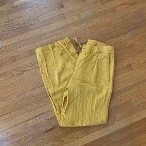 Old Navy Linen Pants XS Mustard